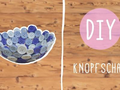 Bunte Knopfschale aus alten Knöpfen: DIY mit Nina!