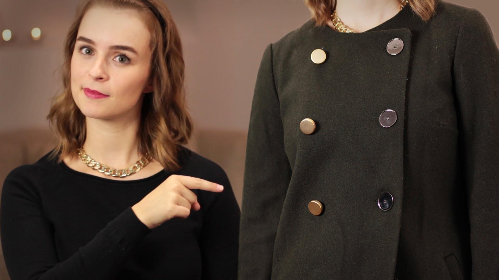 DIY Mantel mal anders - aus alt mach neu - Details austauschen
