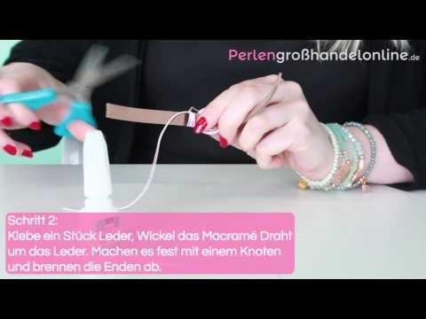 DIY: Mix & match Armband mit 10mm Leder flach