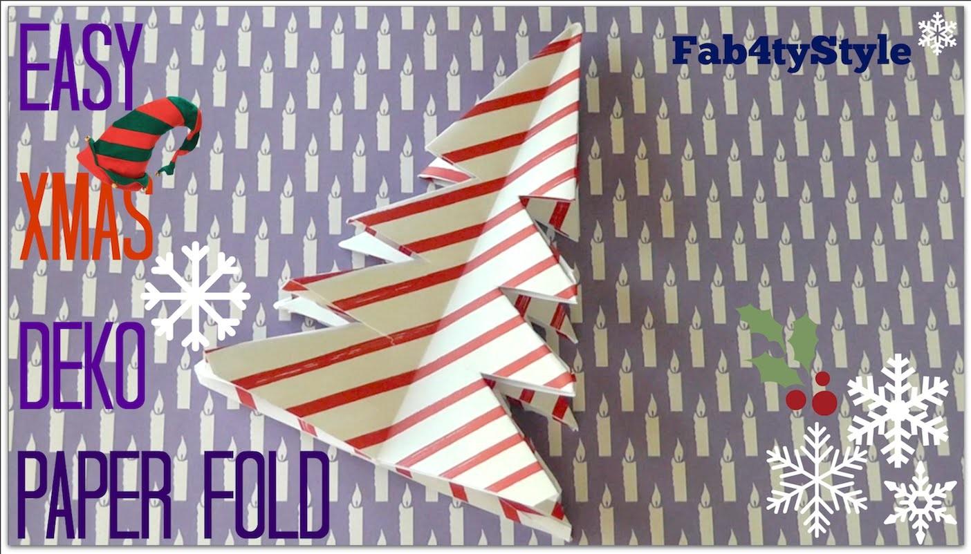DIY Origami Christmas Tree ★ Tannenbaum falten ★ Fab4tyStyle ♥ X-MAS TIME with TheCameronxoxo ♥