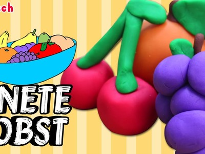 German DIY Einfach: How To Play Doh Fruit | Lernen Knete Obst Deutsch