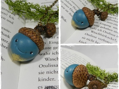 Let´s knet - Polymer Clay.Fimo Tutorial Kawaii Acorn Necklace