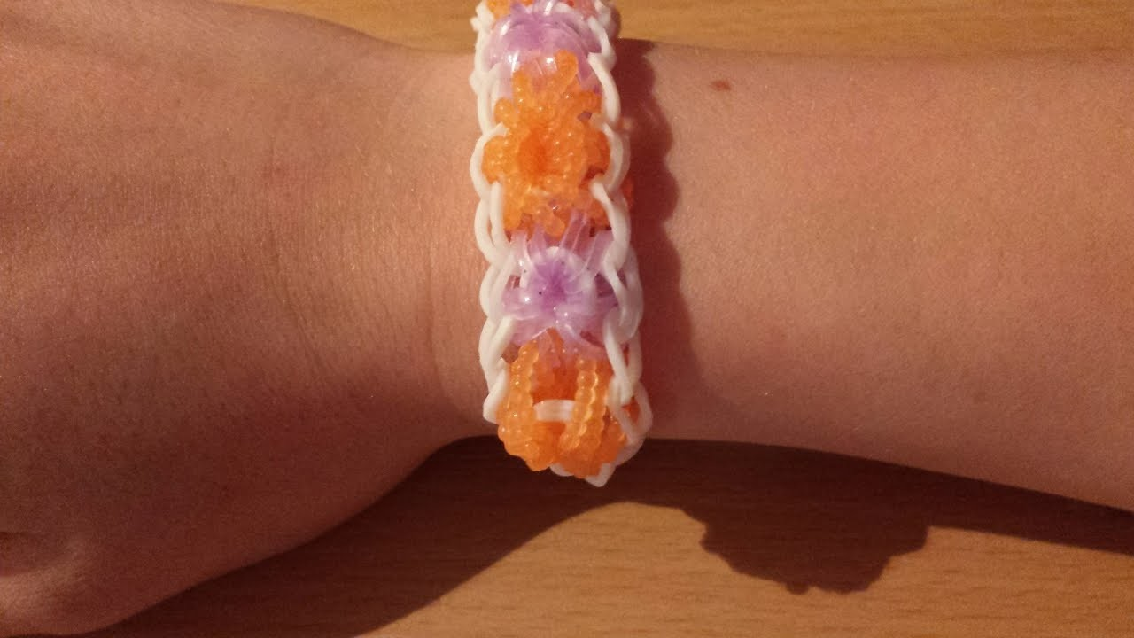 Rainbow loom Stern armband (Anleitung deutsch )