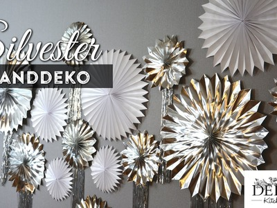 Silvesterdeko basteln: tolle Wanddeko günstig und einfach How to | Deko Kitchen