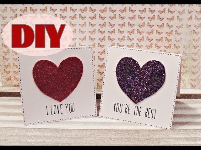 Valentinstagskarten selber basteln #2 - Last Minute Valentine's Day Cards - DIY