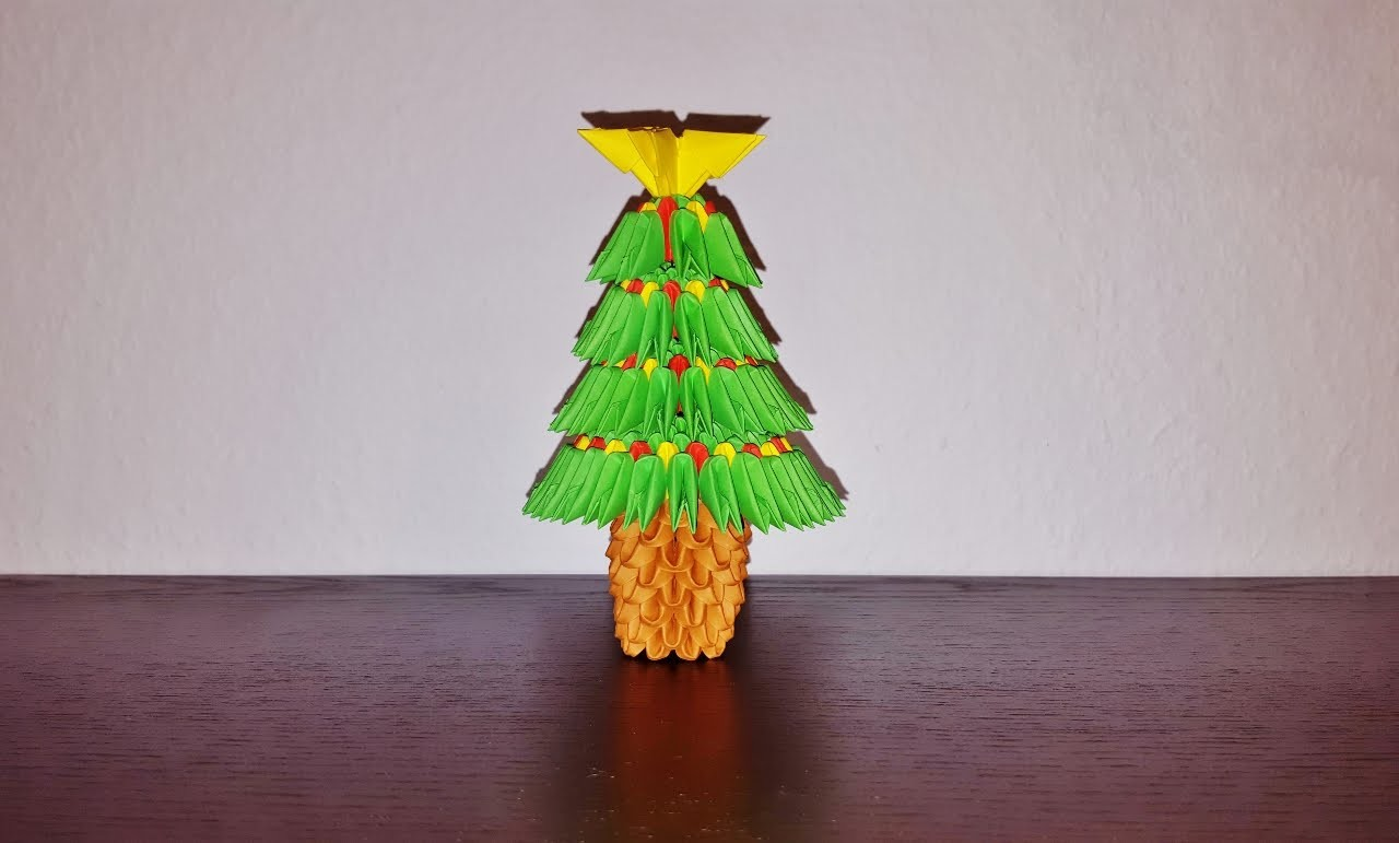 3D Origami Weihnachtsbaum Tutorial (Deutsch) - 3D origami christmas tree tutorial
