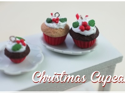 CHRISTMAS CUPCAKE | FIMO Tutorial | how to
