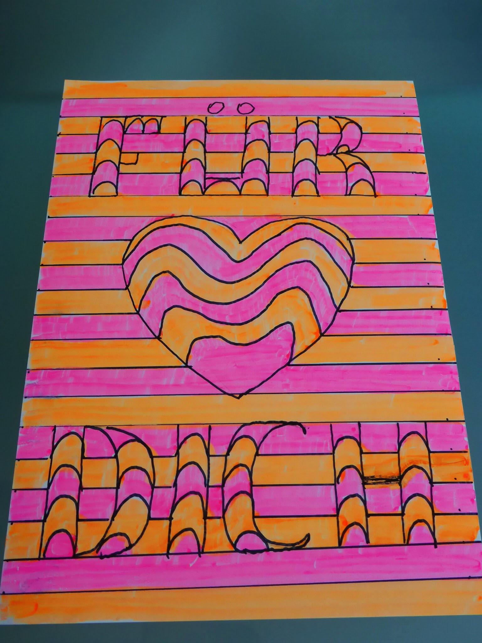 DIY 3D Bild Herz Geschenk zum Valentinstag, Muttertag, Mother´s day Gift Ideas Heart, Tutorial