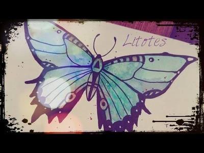 Ein schneller einfacher Schmetterling!. Tutorial: fast n easy Buttefly!