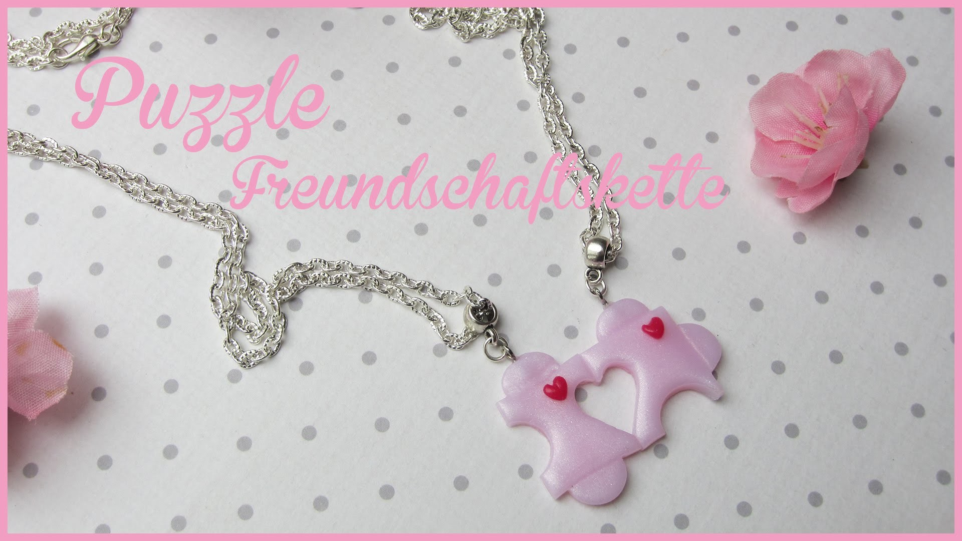 PUZZLE Freundschaftskette ♡ | FIMO Tutorial | #polmerclay #valentinsdayedition