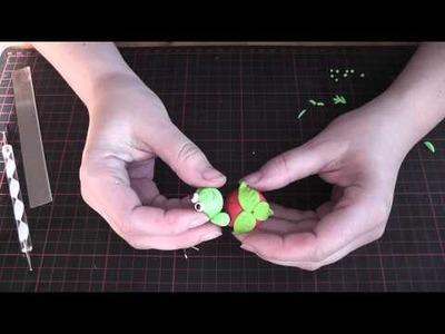 Tutorial Fimo Frosch auf Erdbeere