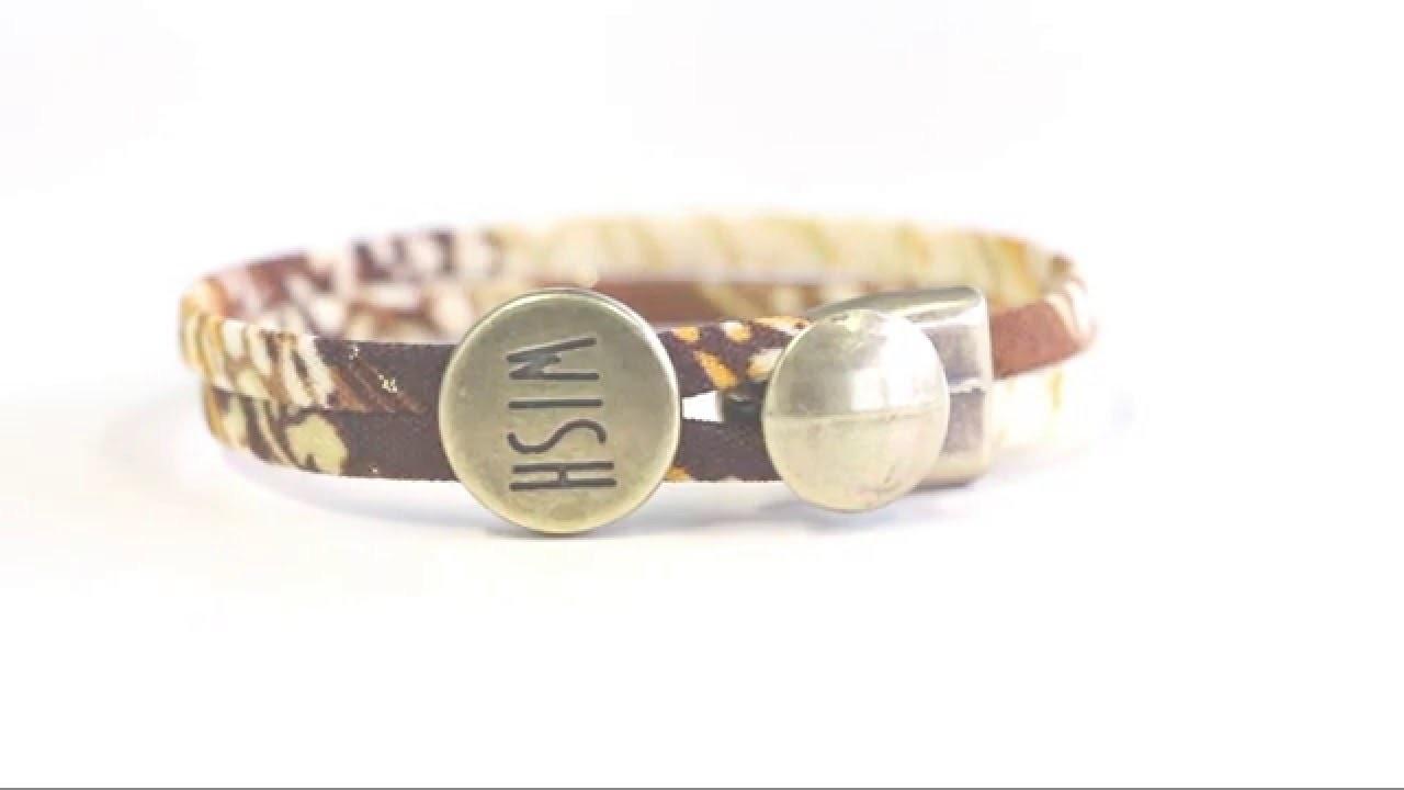 DIY: Armband mit DQ Verschluss und Schieber