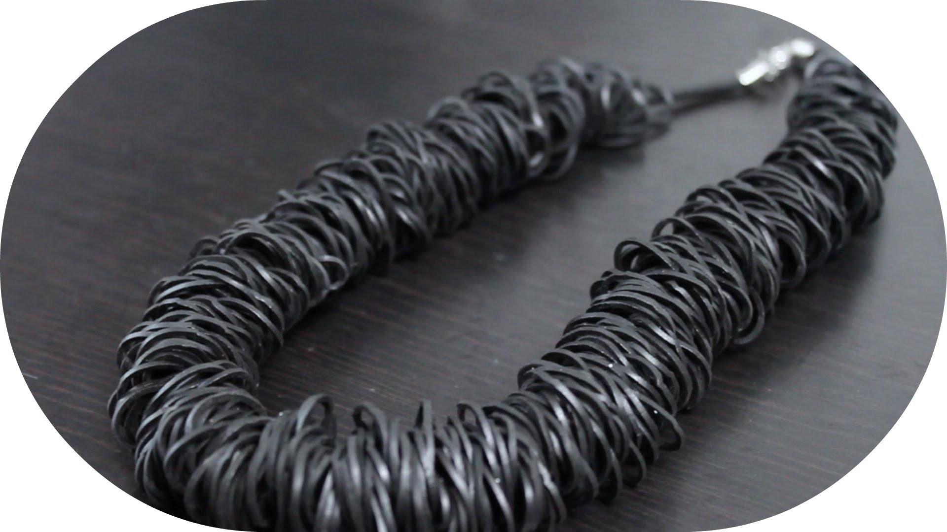 DIY | Statement Kette aus Loom Bändern