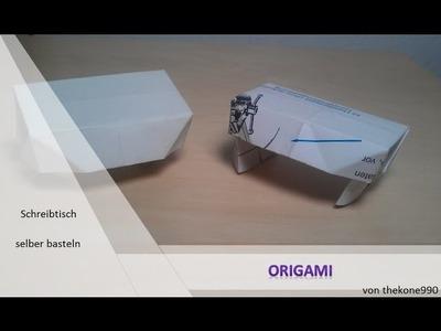 Tutorial Origami - Faltanleitung Schreibtisch