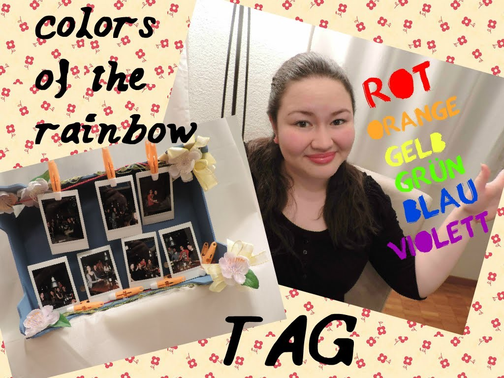 DIY- colors of rainbow TAG
