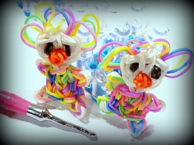 Kunterbunter Clown mit Loom Bands und Rainbow Loom deutsch - Loom Bands Figur