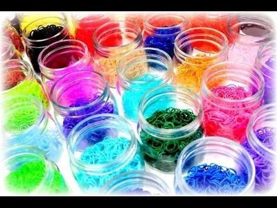 Meine 30 Rainbow Loom Farben Aufbewahrung Loom Bands Armbänder