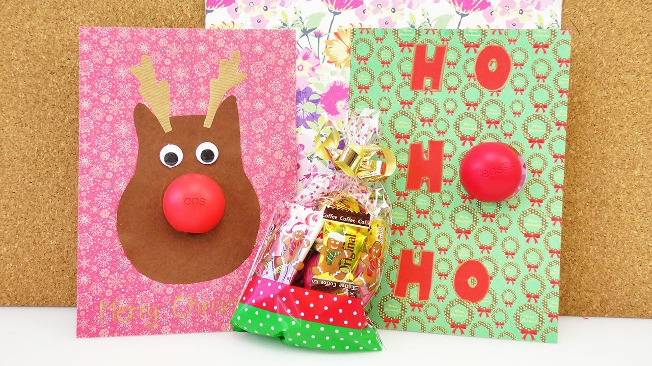 3 EOS Lipbalm Weihnachtsgeschenke | Drei tolle Ideen für Geschenke mit EOS Lippenpflege DIY