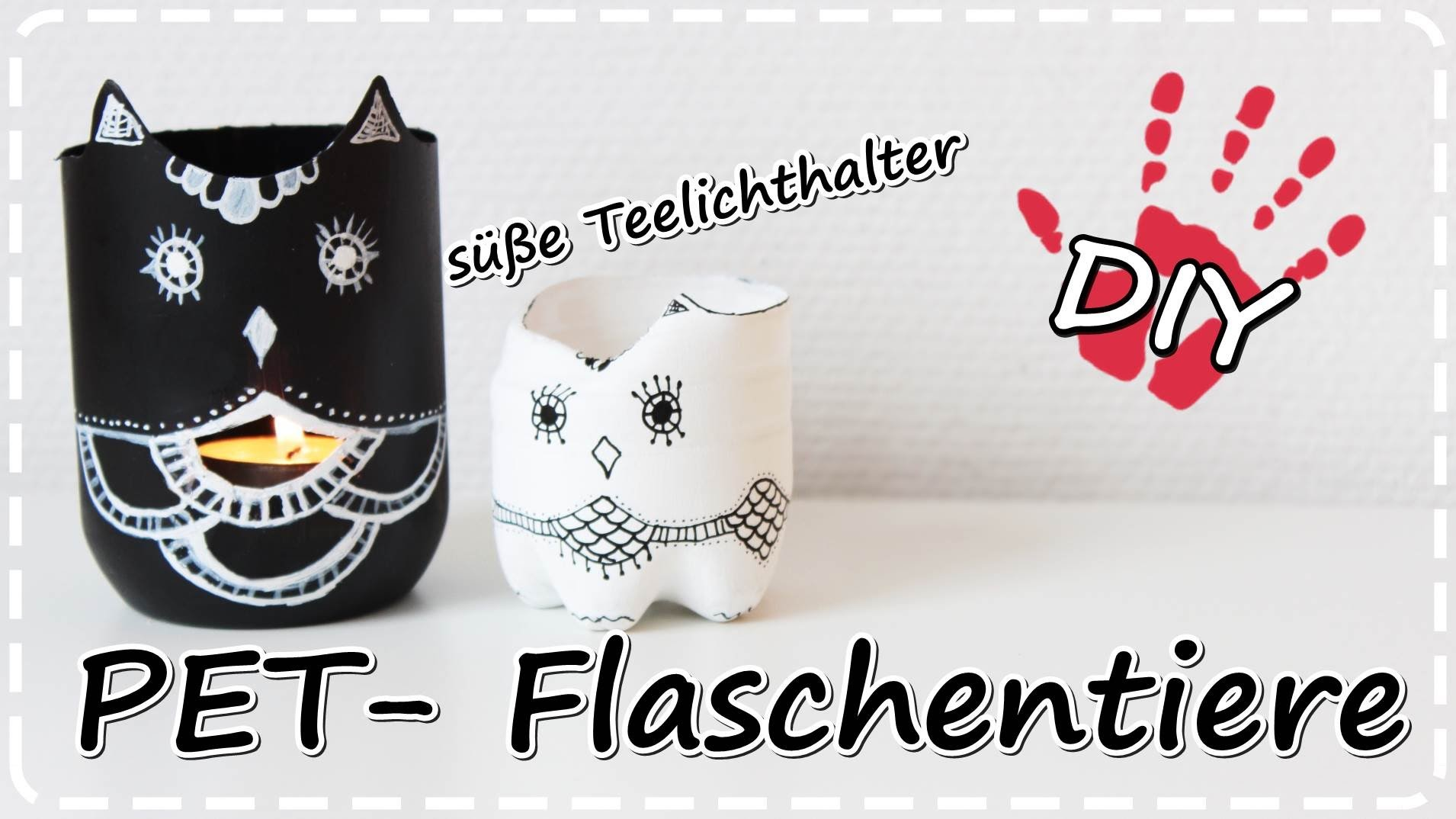 diy tiere aus pet flaschen teelichthalter vasen schmuckaufbewahrung plastic bottle vases. Black Bedroom Furniture Sets. Home Design Ideas