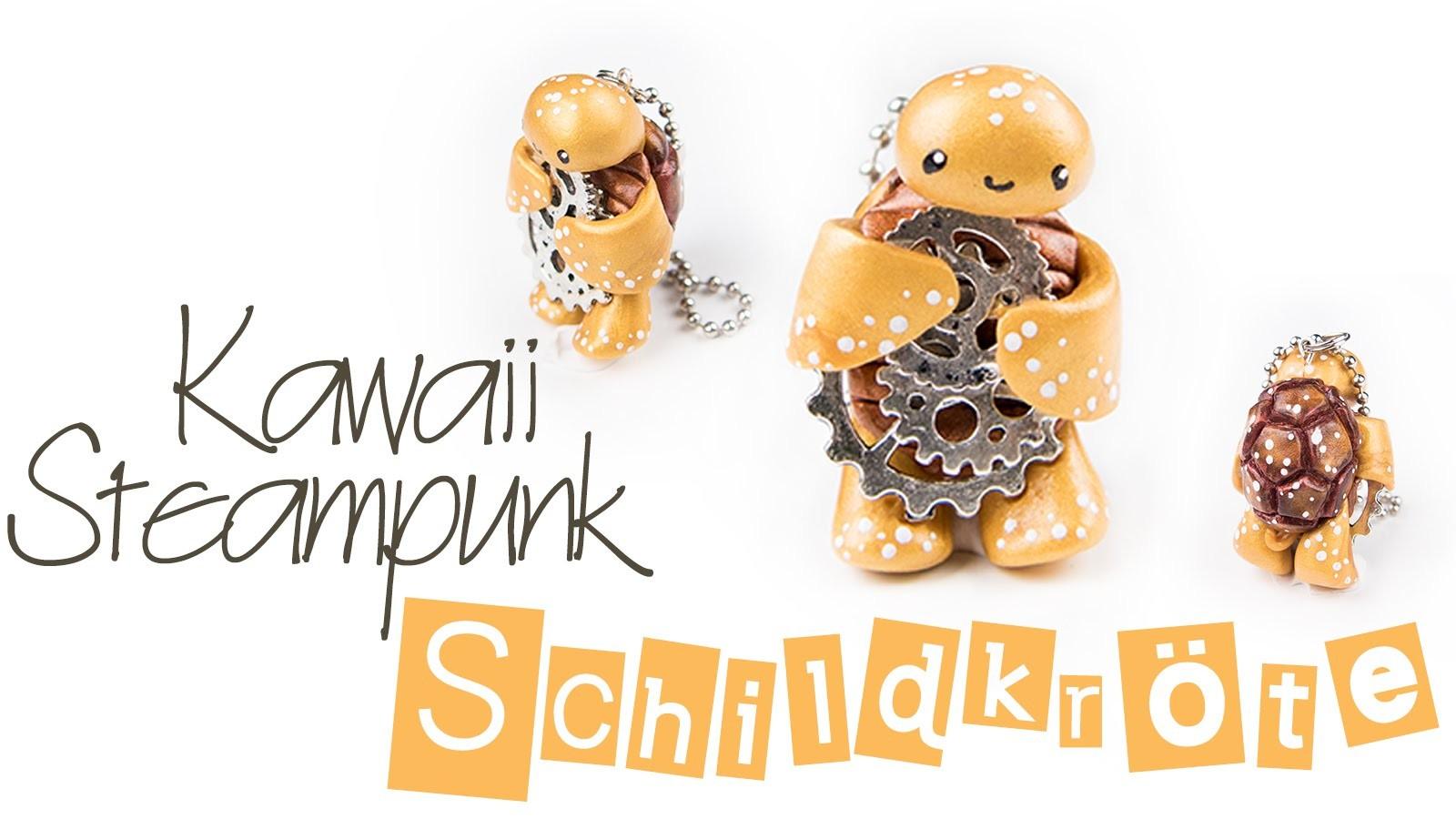 [FIMO Tutorial] Kawaii Steampunk Schildkröte | Anhänger mit Polymer Clay | DEUTSCH
