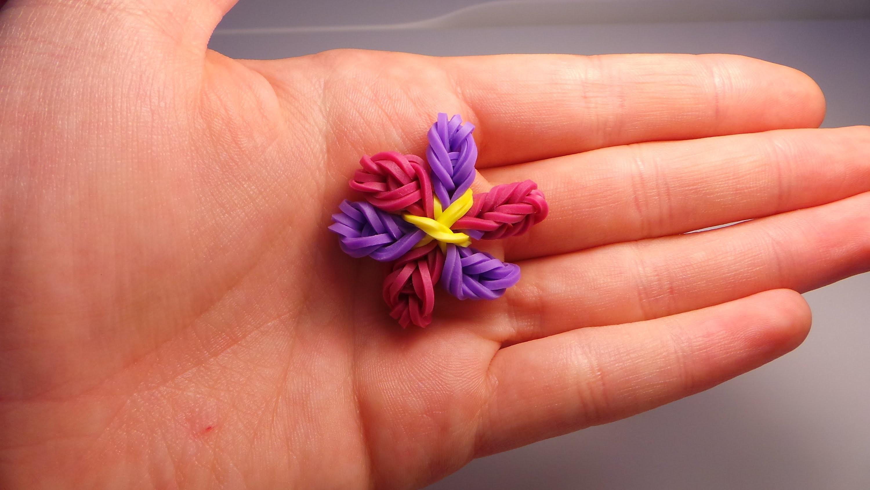 Rainbow loom Bands Blume (Anleitung deutsch)