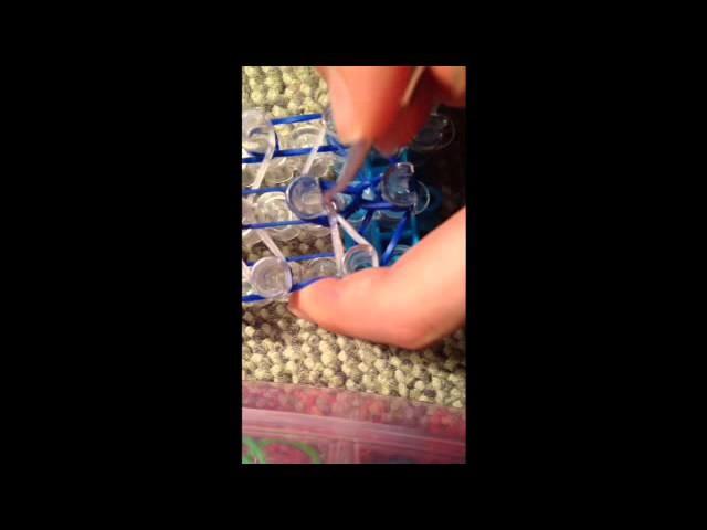 Rainbow loom X armband (Surfer armband)(Original Loom) Schweizerdeusch)