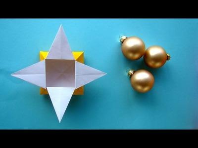Sterne - Schachtel basteln - Origami Geschenk-Box für Weihnachten falten - Ideen