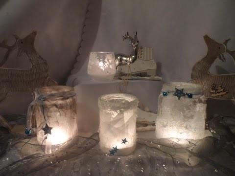 DIY : keka 6 IDEEN EIS ,geeiste Gläser basteln,SILVESTER,Silber HOCHZEIT DEKO selber machen Part 1