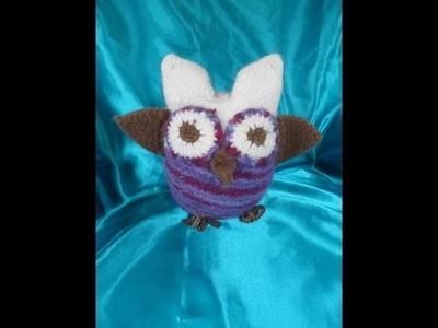 DIY:keka EULE zum spielen,als Kissen,DEKO;stricken.häkeln +filzen,zum selber machen PART3