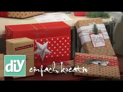 Geschenke schnell und einfach verpacken   DIY einfach kreativ