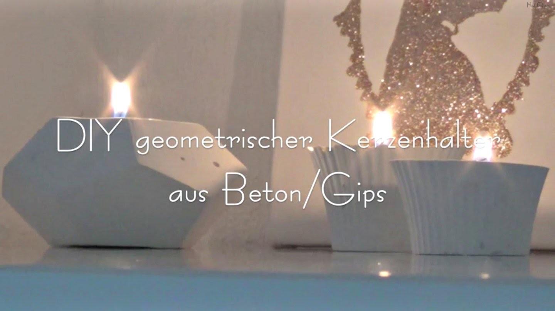 DIY Geometrischer Kerzenhalter aus Beton