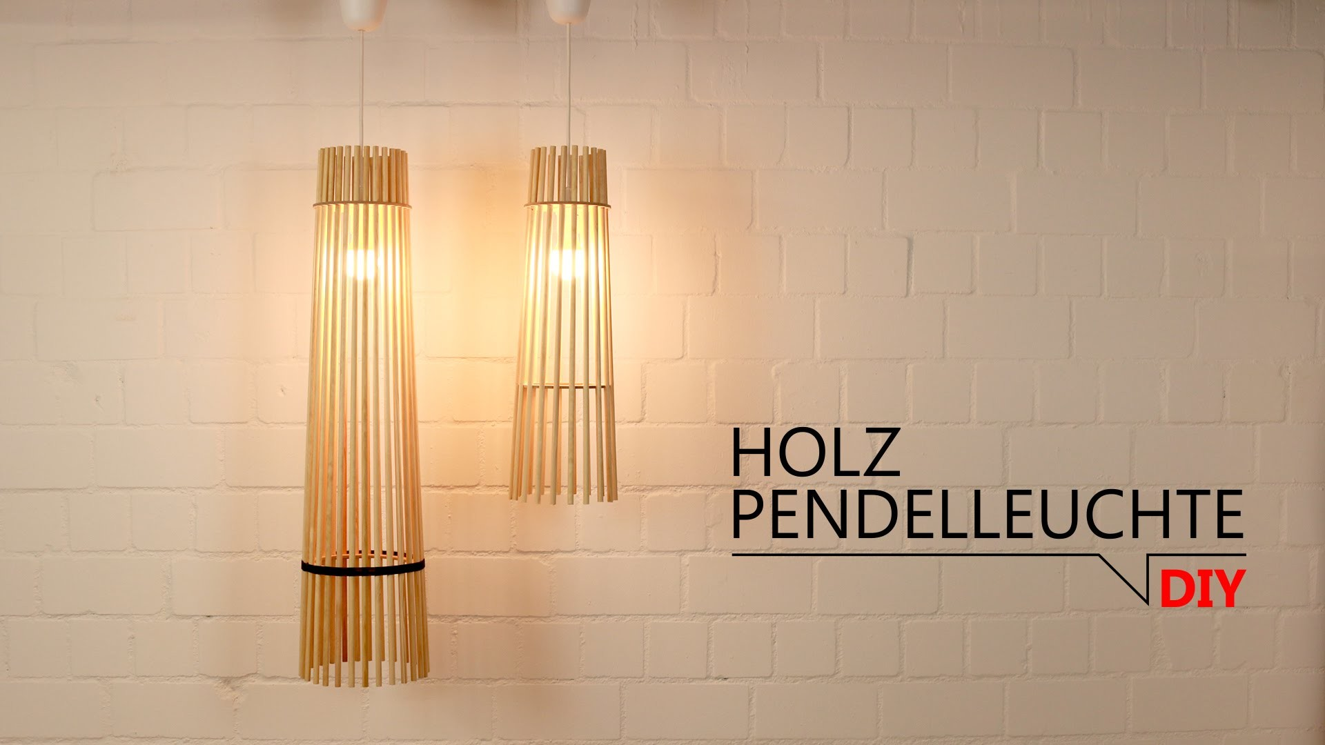 DIY - Holz Pendelleuchte. FREE DOWNLOAD TEMPLATES