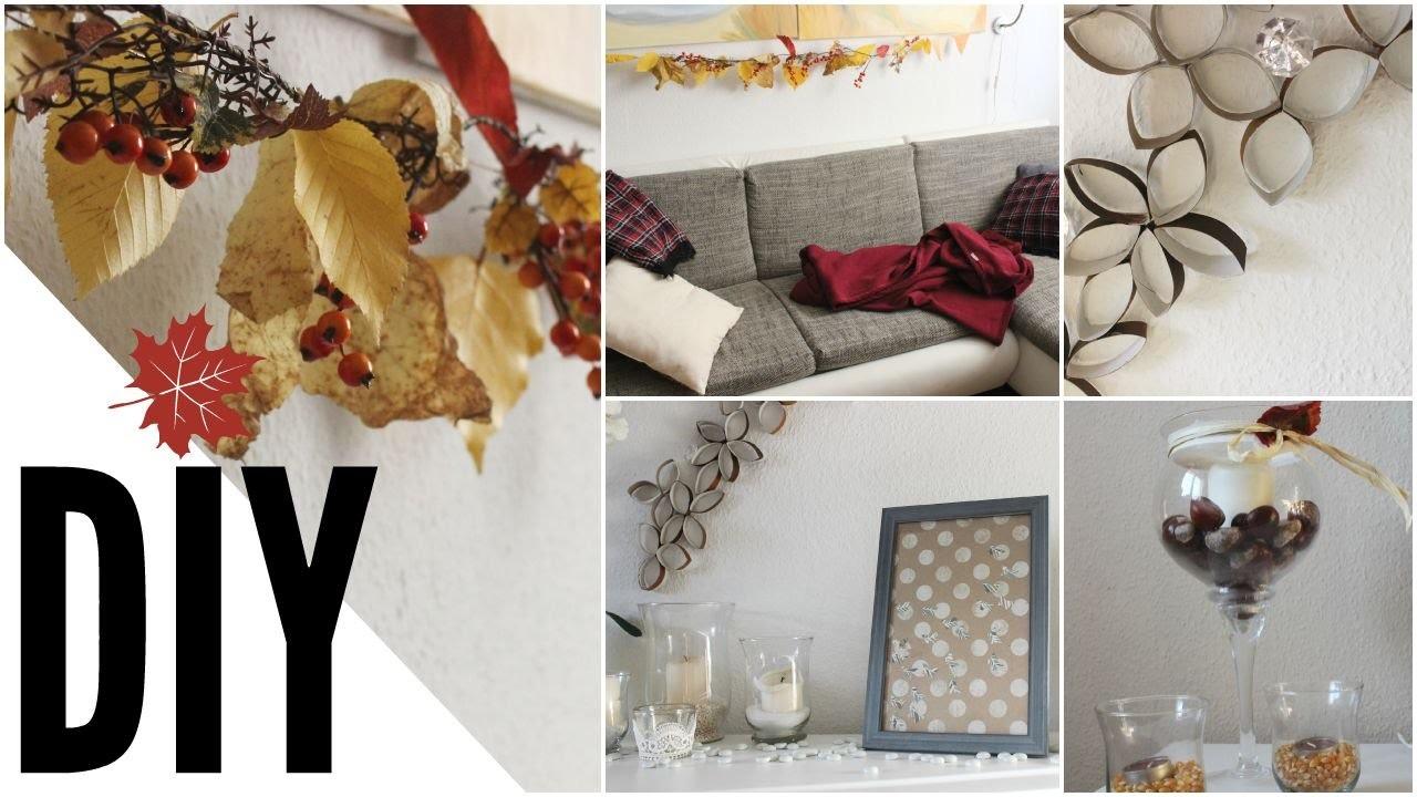 diy herbst raumgestaltung deko i autumn room decor 2015. Black Bedroom Furniture Sets. Home Design Ideas