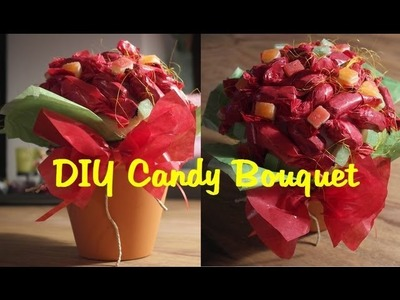 DIY Pralinenstrauss zum Muttertag. DIY Candy Bouquet for Mother`s day