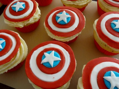 How to make Captain America Cupcakes