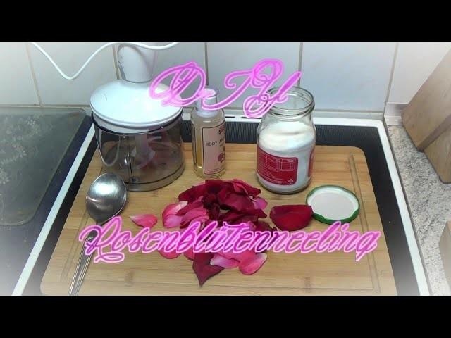 DIY Rosenblütenpeeling