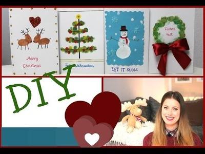 DIY Weihnachtskarten - schnell & einfach