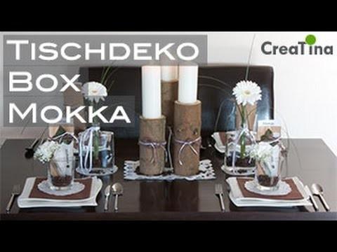Tischdeko | Tischdeko Box | Mokka | Tischdekoration DIY