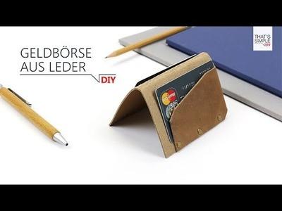 DIY - Geldbörse aus Leder in 5 Minuten