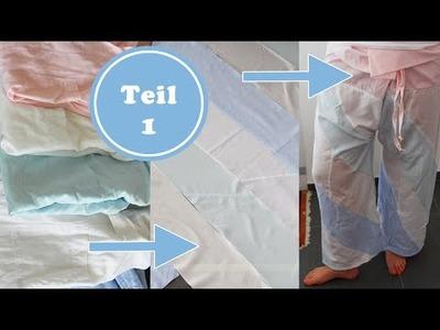 Ein Stück Stoff aus alten Hemden nähen | Upcycling | Recycling | DIY