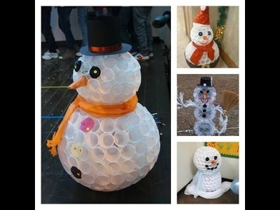 Schneemann aus Plastikbechern ⛄️I DIY I Fail!!!!!