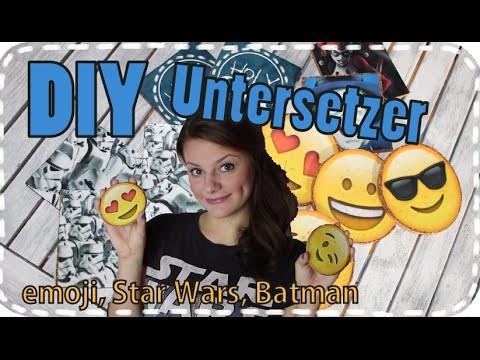 DIY emoji Untersetzer - Star Wars - Batman