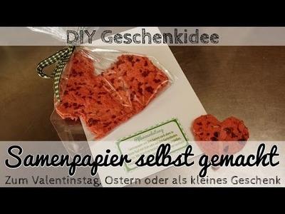 DIY Geschenkidee: Samenpapier selbst gemacht - zum Valentinstag, Ostern oder als kleines Geschenk