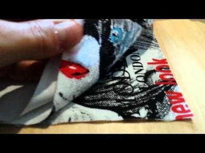 DIY - kleine Tasche mit Reißverschluss  nähen - Teil 1