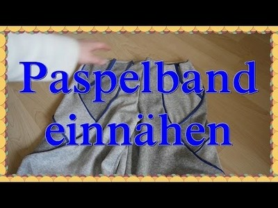 DIY Paspelband einnähen - Nähen für Anfänger Ideen Anleitung 5 min Projekt Jersey nähen