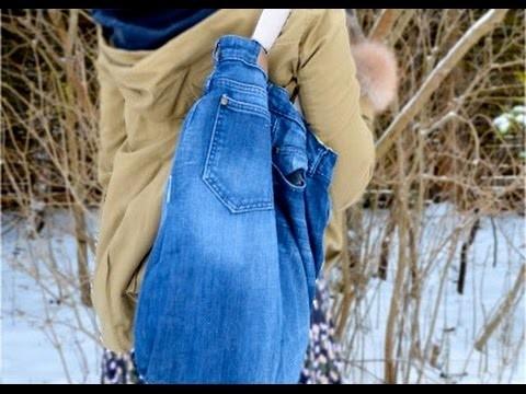 Mini Kühlschrank Mit Jeans : Tasche aus jeans nähen jeans tasche selber nähen diy tasche