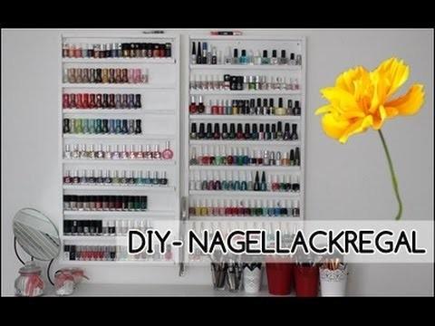 DIY Nagellackregal  unter 18 Euro!!!