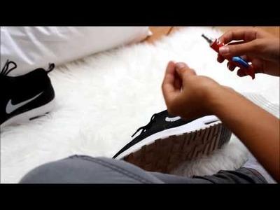 DIY Nike Schuhe mit Straßsteinen - Anna Scherg