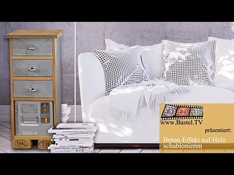 DIY Paletten-Möbel Upcycling in Beton-Optik