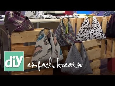 Einkaufsbeutel in Origami-Falttechnik | DIY einfach kreativ